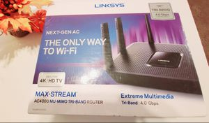 Brand New Sealed Router Linksys Max-Stream AC4000 for Sale in Glendale, AZ
