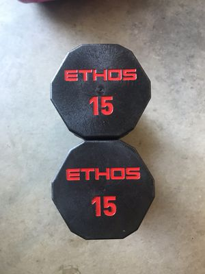 Dumbbells (2x15Lbs) for $60 Firm on Price for Sale in Diamond Bar, CA