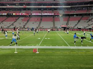 4 Arizona Cardinals tickets 10 yard line - Section 126 row 3 for Sale in Phoenix, AZ