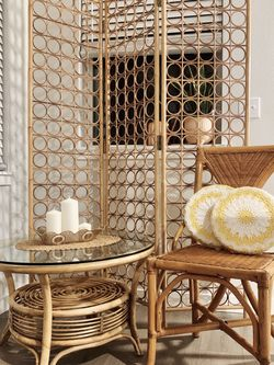 Rattan Coffee Table & Chair for Sale in South Hill,  WA