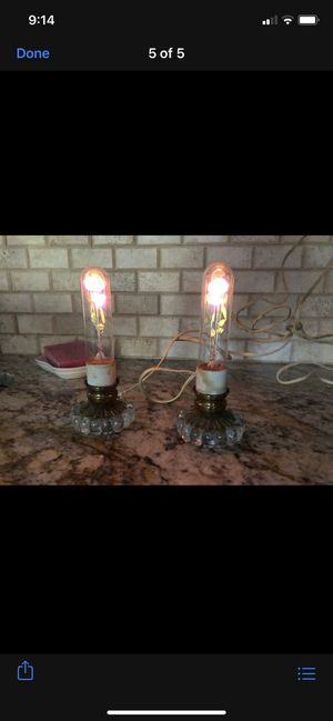 ~1930s antique handmade rose lamps for Sale in Tinton Falls, NJ