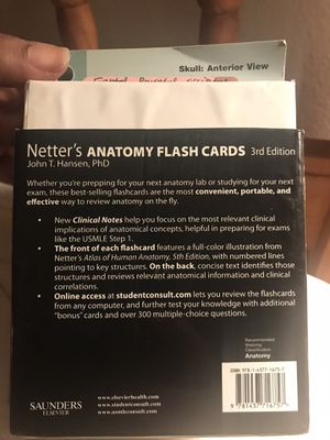 Netter's Anatomy Flash Cards. 3rd edition for Sale in Anaheim, CA