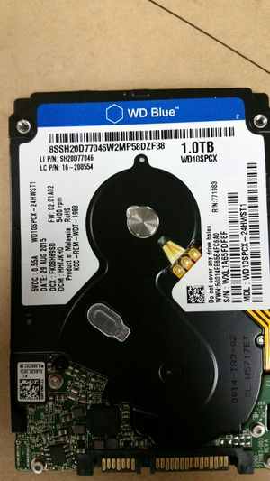 1tb 2.5 inch laptop hdd for Sale in Garden Grove, CA
