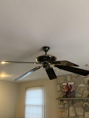 Ceiling fan brass and black for Sale in Mount Laurel Township, NJ