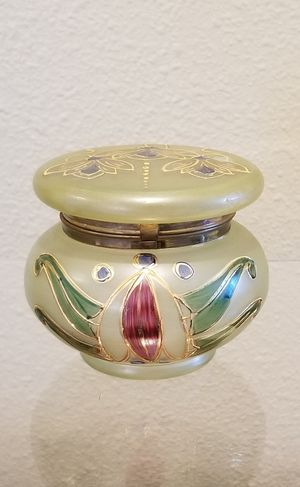 Antique Bohemian glass dresser jar for Sale in Tampa, FL