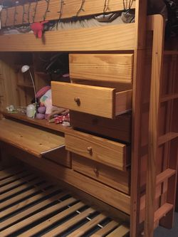 Bunk bed/trundle And Desk for Sale in Lincoln,  RI