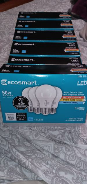 24 Eco smart dimable LED light bulbs for Sale in Phoenix, AZ