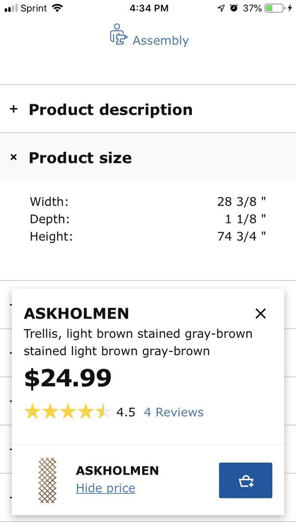 Ikea Plant Trellis