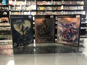 Kingdom hearts 1, 2 and re-chain of memories for Sale in Santa Clarita, CA