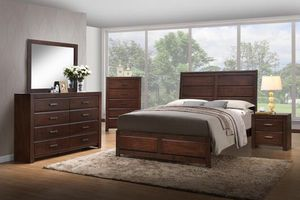 Walnut Wooden Bedroom Set for Sale in Baltimore, MD