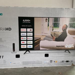 """Hisense - 65"""" Class H65G Series LED 4K UHD Smart Android TV - Retail Value $500. for Sale in Acton, MA"""