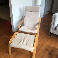 IKEA Rocking Chair And Ottoman for Sale in Marietta,  GA