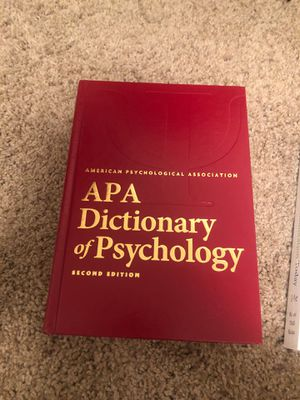 APA Dictionary of Psychology 2nd edition for Sale in Lincoln, NE