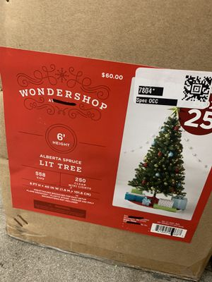 BRAND NEW 6FT Lit Christmas Trees in Box! Great Deal, $40 Only! for Sale in Los Angeles, CA