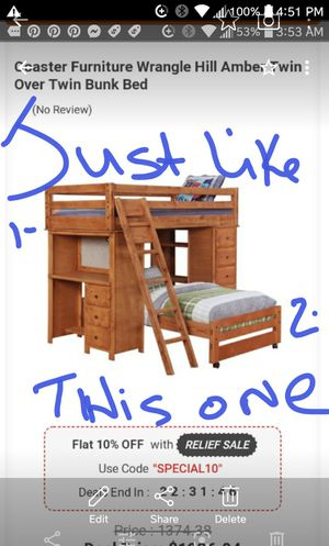 New price !!!!Wooden bunk bed sets just like in the picture for Sale in Austin, TX
