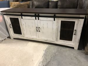 Brand New Farmhouse Style Sideboard/TV Stand with Barn Doors for Sale in Virginia Beach, VA