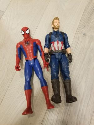 Spider-man and Captain America for Sale in Puyallup, WA