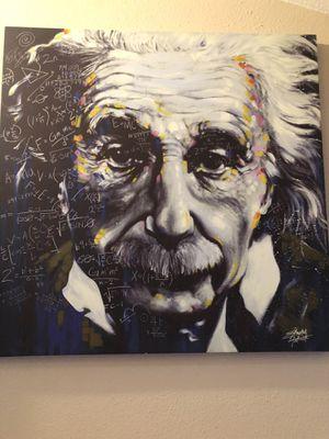 Einstein wall art 40x40 for Sale in Bellevue, WA