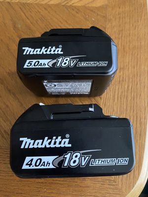 Makita 18v LXT (1)5.0ah & (1)4.0ah Battery New (Firm on price Both For $90.00) !! for Sale in San Diego, CA