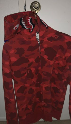 Bape Red Camo WGM zip up for Sale in Mission Viejo, CA
