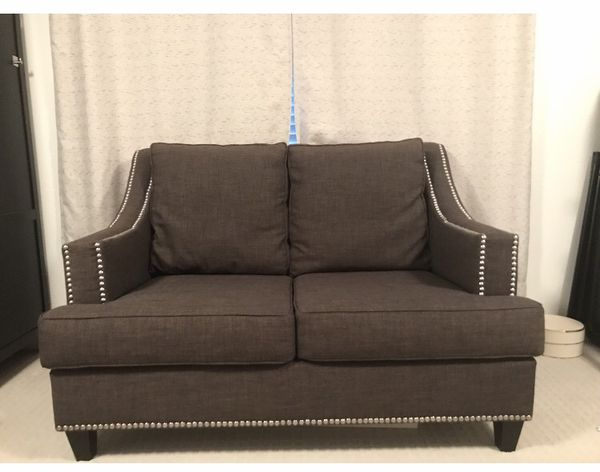 $360 Grey Sofa Love Seat And Sleeper Coucha