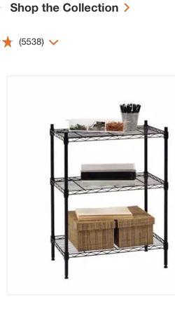 Black 3-Tier Metal Wire Shelving Unit (24 in. W x 30 in. H x 14 in. D) for Sale in Sacramento,  CA