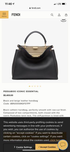 Fendi bag peekaboo for Sale in San Francisco, CA