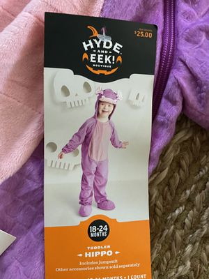 New toddler 18-24 months hippo Halloween costume for Sale in Phoenix, AZ