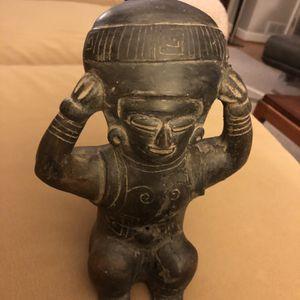 Pre-Colombian Figural Vessel Blackware Chimu Peru South America 900 -1450 AD for Sale in Crofton, MD