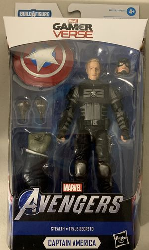 "STEALTH CAPTAIN AMERICA Hasbro MARVEL LEGENDS GAMER VERSE 2020 6"" inch ACTION FIGURE for Sale in Rancho Cucamonga, CA"