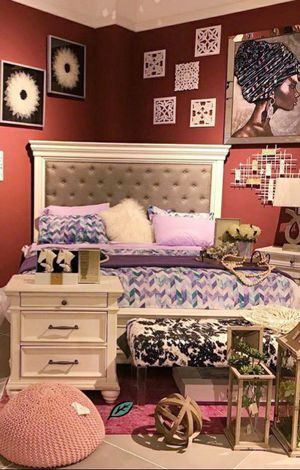 ☑ Special for Black Friday ‼ SPECIAL] Kanwyn Whitewash Upholstered Panel Bedroom Set 13 for Sale in Jessup, MD