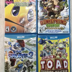 4- Nintendo WII U Games (like New Condition ) for Sale in Wheaton, IL