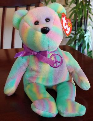 """2010 Rare """"Peace the Bear"""" Candy Stripes Ty Beanie Baby for Sale in Kyle, TX"""
