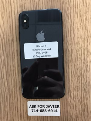 iPhone X 64GB Factory Unlocked for Sale in Santa Ana, CA