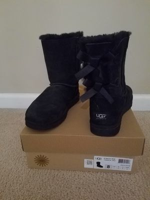 Black Bailey Bow Ugg Boots for Sale in Tyrone, GA