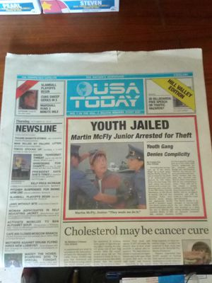 USA Today Back to the Future Neespaper for Sale in Port St. Lucie, FL