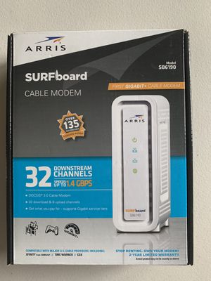 Arris Surfboard Cable Modem - Model SB6190 for Sale in Austin, TX