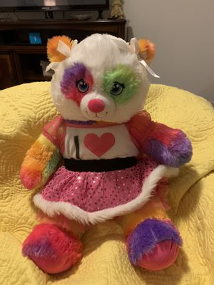 New BUILD A BEAR 🐻 teddy beat with clothing RAINBOW 🌈 PRIDE MONTH for Sale in Cape Coral, FL