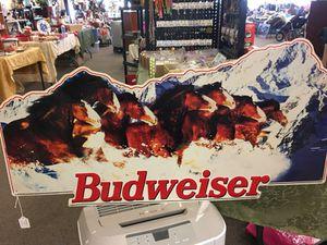 Metal Budweiser Sign for Sale in Saint Robert, MO