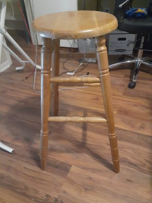 Wooden Carpenter desk w/wooden Stool for Sale in Houston, TX