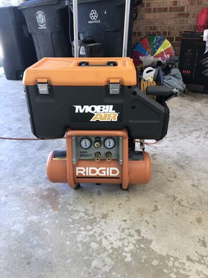 Ridgid air compressor for Sale in Hillcrest Heights, MD