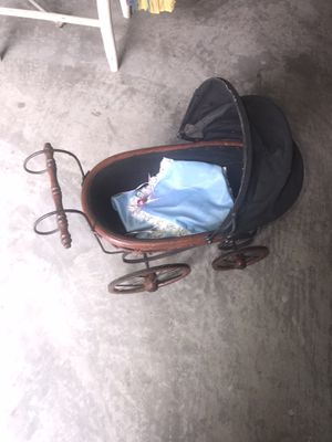 Antique Baby Doll Stroller With Blanket for Sale in Knoxville, TN