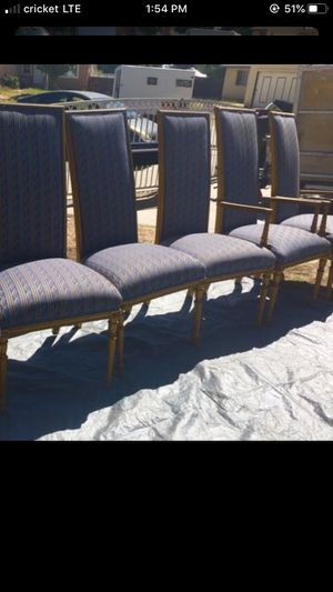 Antique 6 chairs very light good condition 46 H w18 for Sale in Fontana, CA