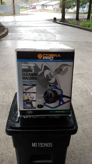 Cobra Pro professional-grade drain cleaning machine for Sale in Lacey, WA