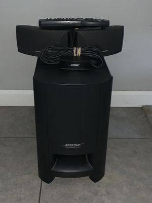 Bose CineMate Surround Sound System COMPLETE- Sub, two Speakers, Remote and all cords for Sale in Fresno, CA