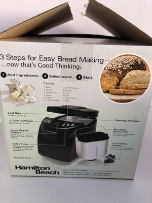 Hamilton beach 2 lb digital bread maker for Sale in Cary, NC