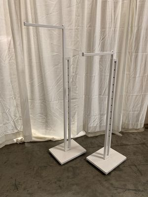 White Clothing Display Racks (2) for Sale in Santa Fe Springs, CA
