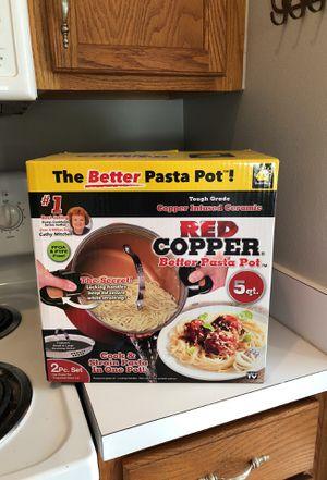Red Copper Pasta Pot- New In Box!! for Sale in Zephyrhills, FL