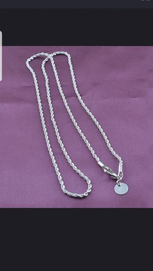Sterling silver rope chain 24in for Sale in Dundalk, MD