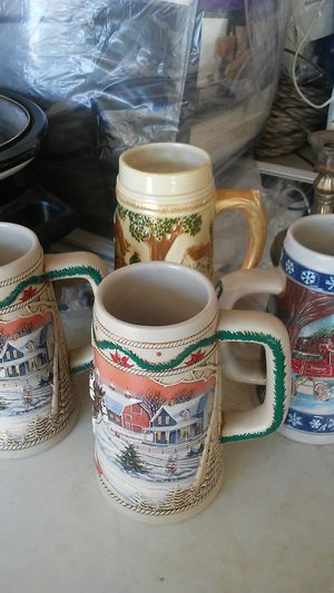 4 beer steins for Sale in Palmdale, CA